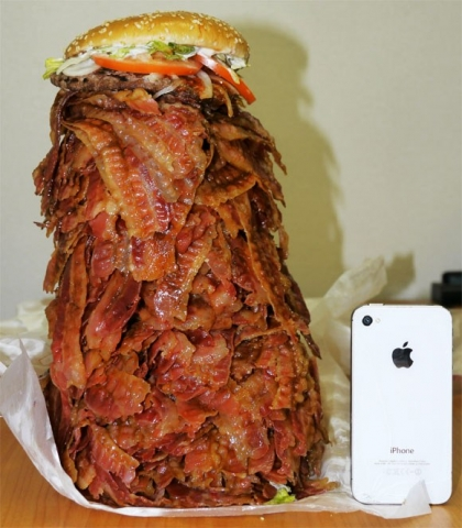 Hamburguesa gigante bacon