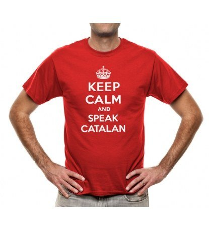 Camiseta-keep-calm-and-speak-catalan