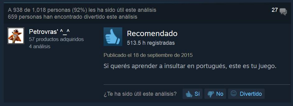 Counter Strike análisis steam gracioso