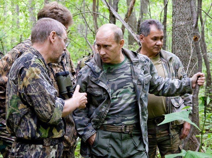 Putin camuflaje militar