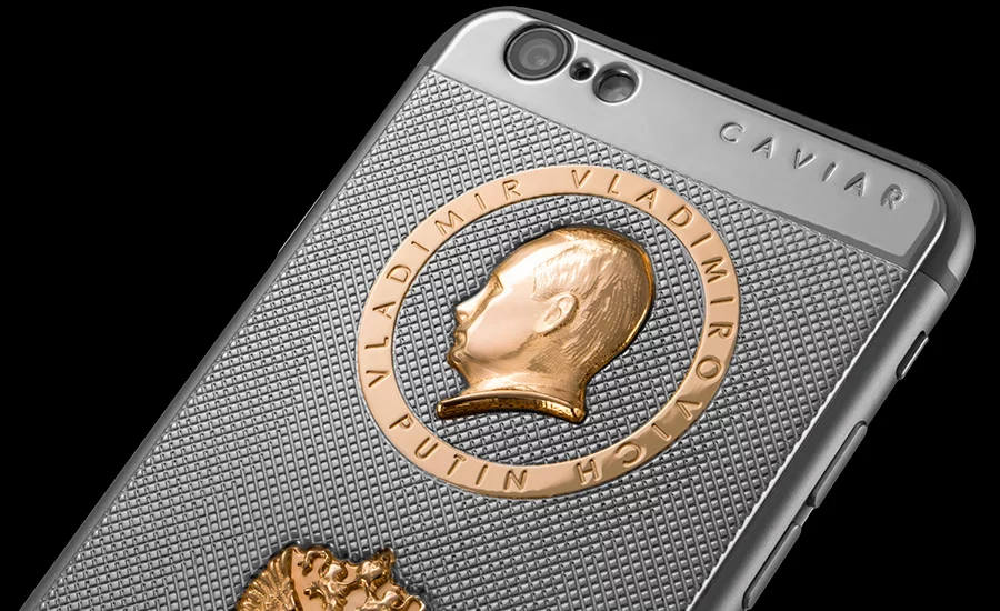 Iphone de oro de Putin