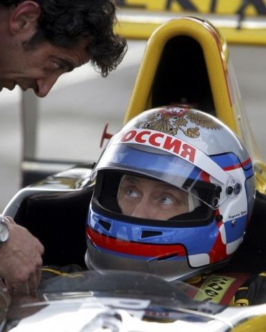Putin pilotando un Formula 1