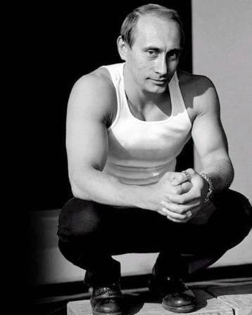 Putin posando sexy