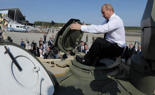 Putin en un tanque