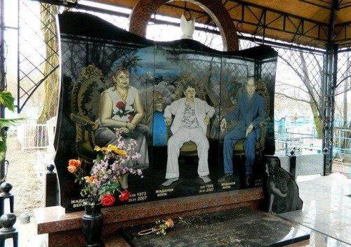 Cementerio ruso retrato familia