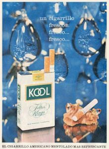 Anuncio Cigarrillos Kool 1965