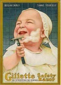 Anuncio Gillette 1950