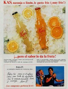 Anuncio antiguo Kas naranja Kas limón
