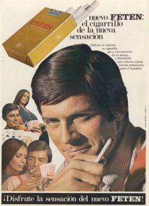 Publicidad Cigarrillos Feten 1969