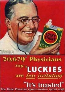 Publicidad Lucky Strike Recomendación Medica