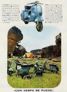 Publicidad Vespa retro antigua
