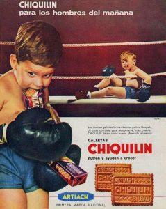 Publicidad antigua Chiquilin para hombres