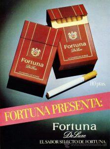 Publicidad antigua cigarrillos fortuna