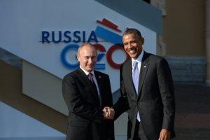 Putin con Barack Obama