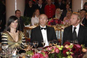 Putin con tenista Boris Becker