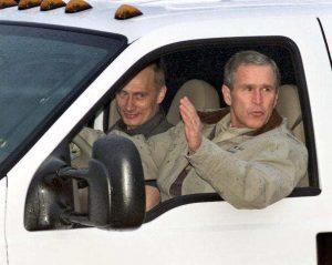 Putin con George Bush