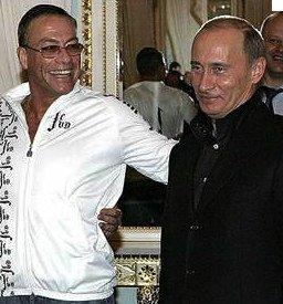 Putin y su amigo Jean Claude Van Damme