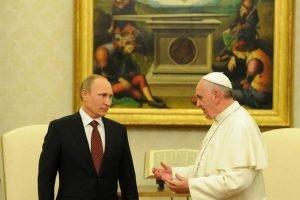 Putin con el Papa Francisco