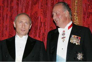 Putin con el Rey Juan Carlos