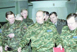Putin dirigiendo operaciones militares