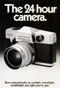 anuncio antiguo cámara reflex
