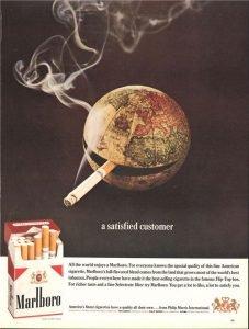 anuncio antiguo marlboro el mundo fuma
