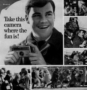 anuncio cámaras kodak fotografía antigua