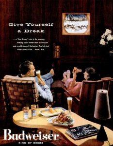 anuncio publicitario budweiser antiguo