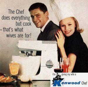 publicidad mujer en la cocina