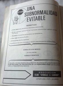 subnormalidad evitable anuncio