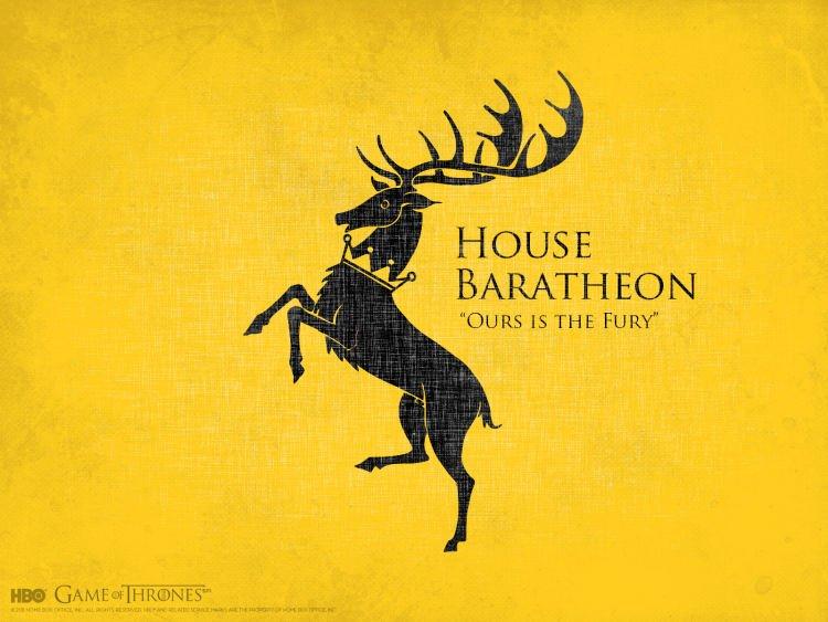 Casa Baratheon Nuestra Es La Furia